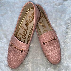 Sam Edelman Pink Croc Lior Loafer